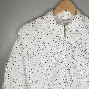 Madewell Oversized Ex-Boyfriend Polka Dot Shirt SM